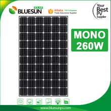 Efficient 250 watt 260w photovoltaic poly solar panel for home