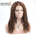 Best factory 10A grade brown Color natural wave Indian Human Hair full lace Wig