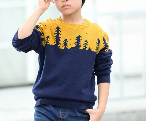 2017 spring fashion children wool sweater Korean sweater designs for kids hand knitted