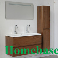 MFC bathroom vanity cabinet with side cabinet and light mirror vanity in Shanghai China