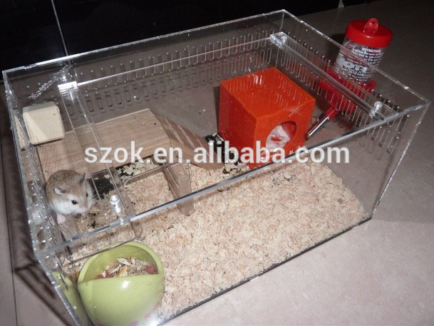 Unique funny design beautiful acrylic hamster cage