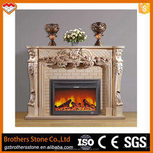 Without Remote Control Function and Free standing Installation Type marble fireplace