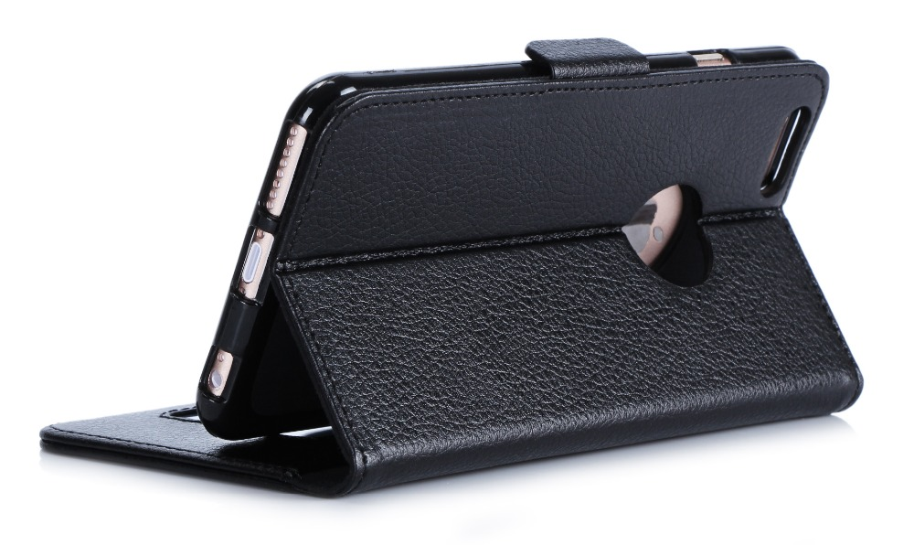 Excellent Quality Wallet- Card -Slots Second Leather Cell Phone Case for iphone 6 plus 5.5inch