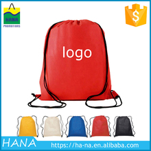 custom logo cheap nylon drawstring backpack