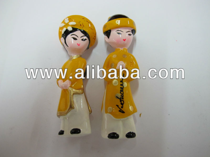Vietnames Wedding Dolls Gift Fridge Magnet