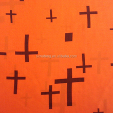 Printed chiffon fabric in cross pattern