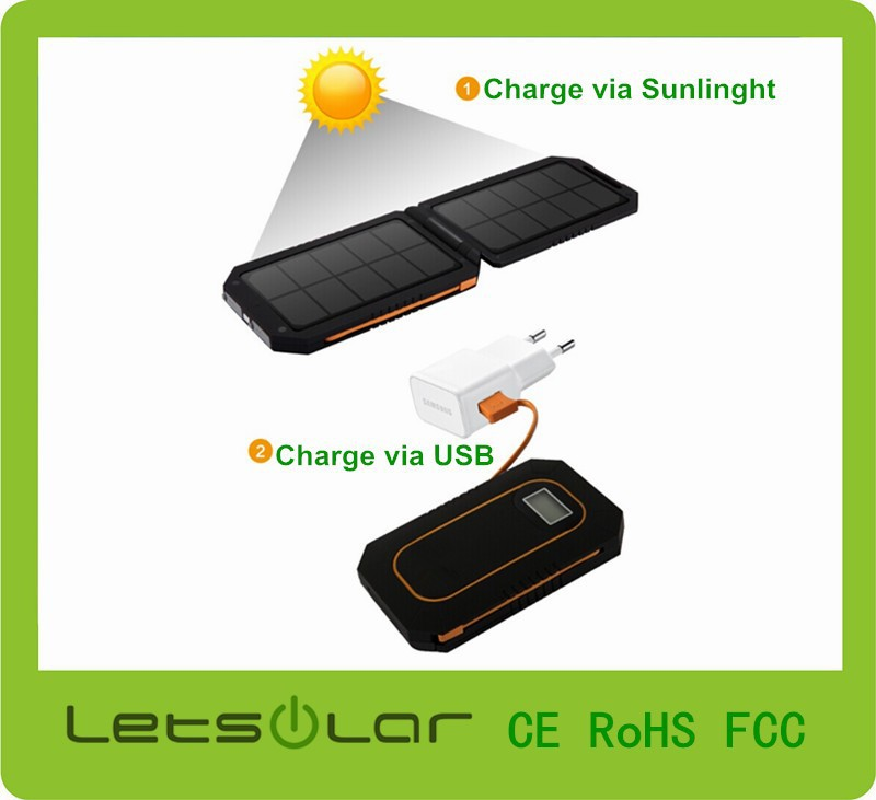 Portable solar charger 6000mAh universal solar charger power bank for iPhone 6 plus