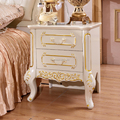 Modern Night Table White Colour Bedstand 2 Drawers Bedside Table Bedroom Furniture