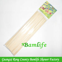 Hot selling disposable meat BBQ round header packing bamboo sticks for food made in china
