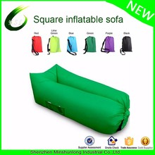 Customized inflatable corner sofa Portable Sleeping Bag 210T waterproof nylon Air Sleeping Sofa