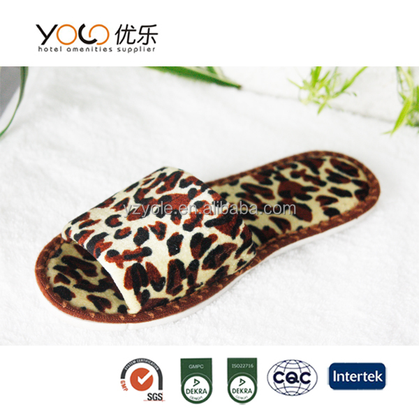 personalized women hotel indoor slipper open toes wholesale