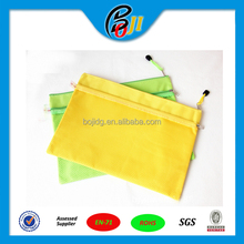 High Quality Waterproof Double Layer Zipper PVC Document holder A4 File Folder