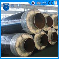 High pressure steel jacket steam insulation pipe with outer steel sleeve used for industry steam pipeline system