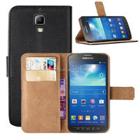 Genuine Leather Wallet Case Cover for Samsung Galaxy S4 Active