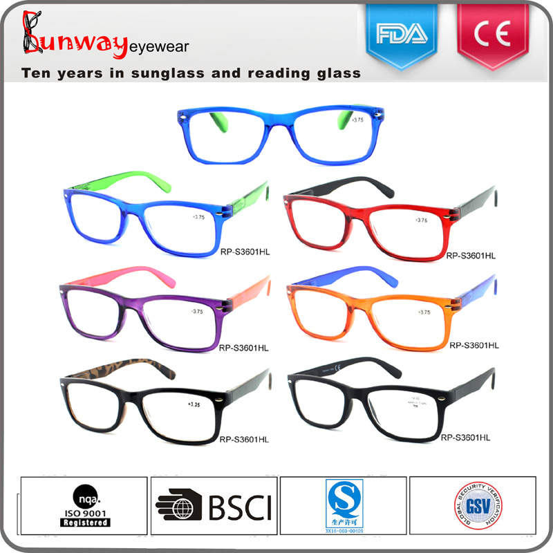 RP-S3601Combined color best selling durable eyewear cheap plastic reaing glasses