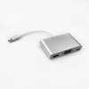 Silver 3 in1 USB 3.1 Type c to VGA USB 3.0 type c hub cable adapter