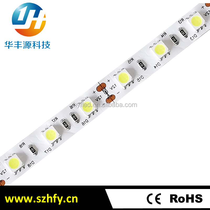 12V christmas decorations led strip light 5050 non-waterproof 60 leds/m smd 5050 led strip with factory price