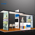 Detian Offer light weight tension fabric trade show display custom led display cardboard display stands