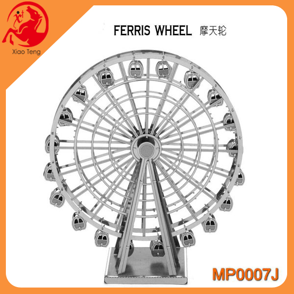 18 Styles Creative DIY 3D Jigsaw Model New Metal Puzzle Assembled Intellegent Kids Educational FERRIS WHEEL Toy Gift