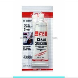Neutral High temperature resisitant clear RTV SILICONE for Car