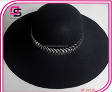 Fashion Wide Brim Wool Felt Hat Blank Wholesale lady Fedora Hat