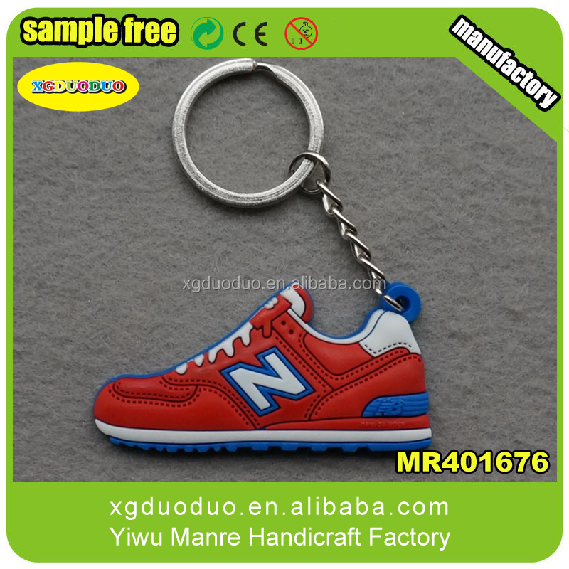 silicone Jordan Nike football sneaker basketball shoes 2d key chain