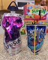 Plastic liquid stand up pouch with straw for fruit juice/energy drink packaging