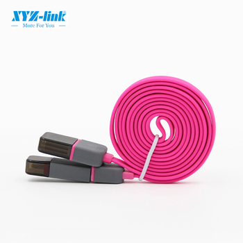 New style multi-purpose oem rock usb cable for android flat cable