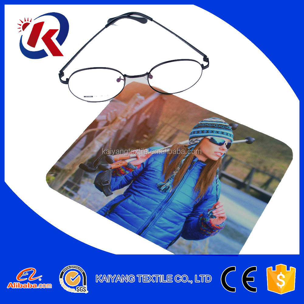 Environmental hot transfer printed screen phone eyeglass cleaning cloth