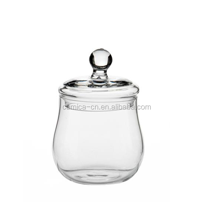 High Quality Clear Glass Jar with Lid for Candy or Penny