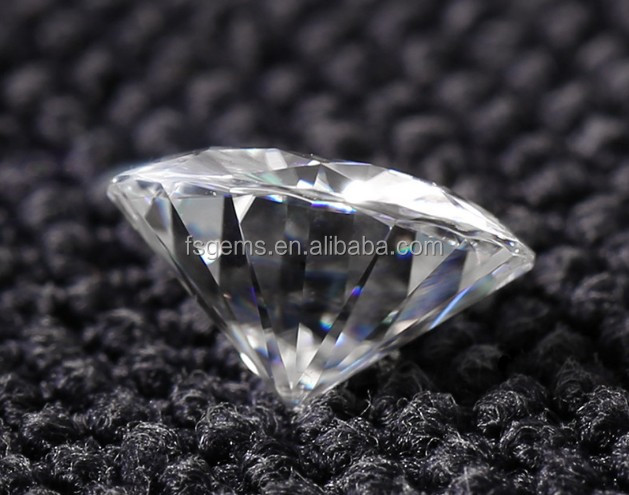 Machine Cut Top Quality 1ct DEF VVS Wholesale Moissanite White Stone Price for Engagement Ring