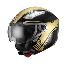 two visors open face helmet JX-OP01 motorcycle accessory (ECE&DOT Approved)