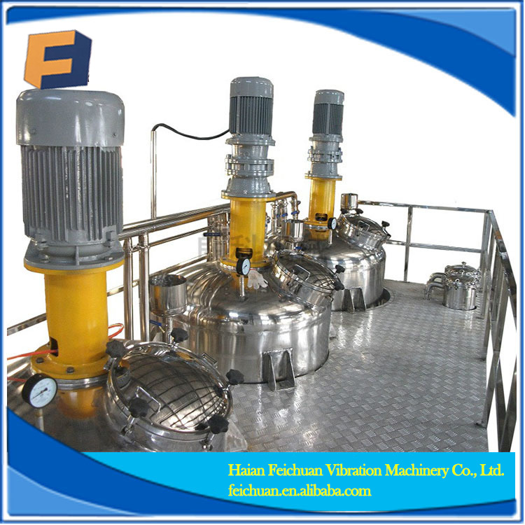 Integrated automation production line for paint emulsion
