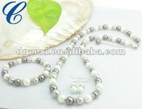 2012 ladys traditional artificial pearl necklace set