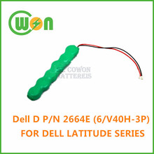 laptop cmos battery for Dell P/N 2644E (6/V40H-3P) laptop battery for dell latitude series