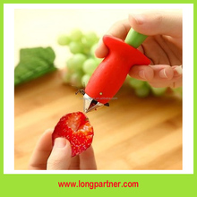 Free shipping ABS red strawberry huller on promotion