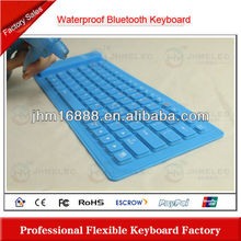 flexible silicon rubber azerty bluetooth keyboard for ipad