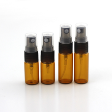 10ml Amber Empty Atomizer Spray Perfume Glass Bottle Essential oil glass vial with plastic lid