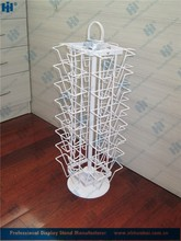 4 sided tabletop metal material spinner wire greeting card rack
