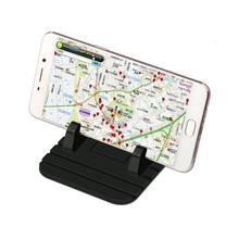 Non-slip Mat Phone Car Holder Stand Rubber Silicone Pad for iPhone Samsung