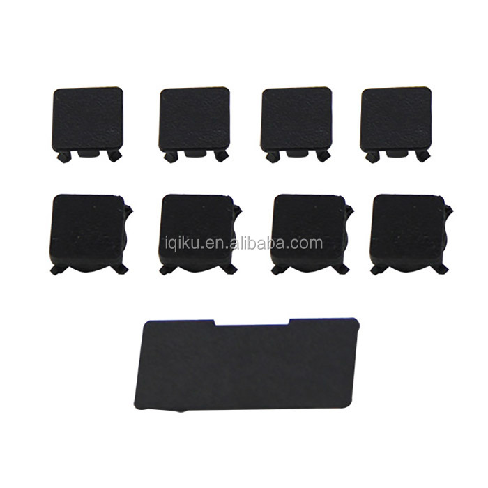 High Quality Full Replacement Rubber Feet Plastics Screws Cap Kit Housing Shell Plastic Cover Kit 9Pcs For PS3 Game Console
