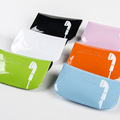 waterproof PVC colorful earphone pouch