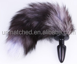 hot selling women sex toy fox tail anal plug with silicon rubber,mental or glass for choice,cosplay sex