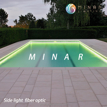 china supplier side glow optic fiber pool lighting
