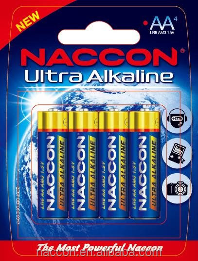 hot selling aa Alkaline battery lr6 1.5v dry cell battery for radio