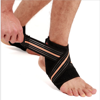 China manufacturer foot pain relieving elastic aircast ankle support brace wraps with strap
