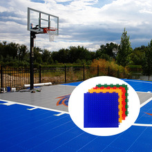 Chinese anti slip removable diy plastic interlocking outdoor basketball courts flooring tiles