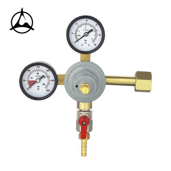 CO2 gas regulator, gas regulator with ball valve