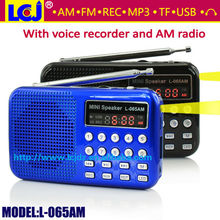 L-065AM mini USB recordable digital radio am fm radio receiver