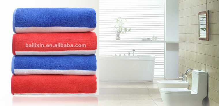 Red microfiber sports bath towel fabric yard for adult